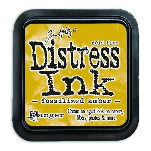 Tim Holtz-Distress Ink pad-Fossilized Amber