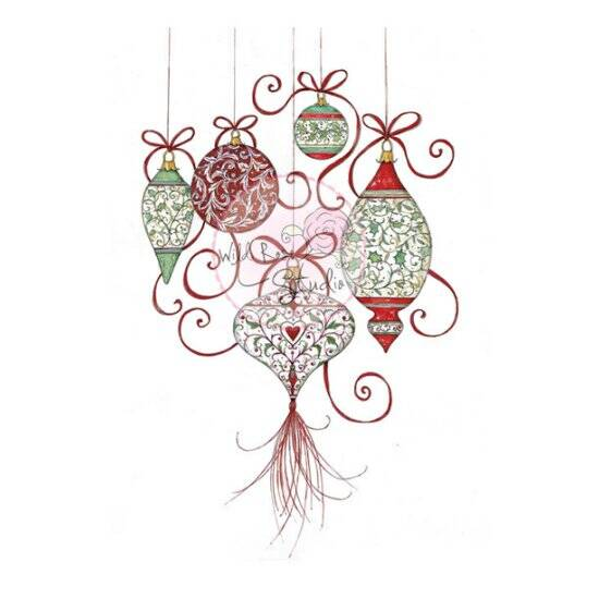 Wild Rose Studio-A7-Clear Stamp-Baubles