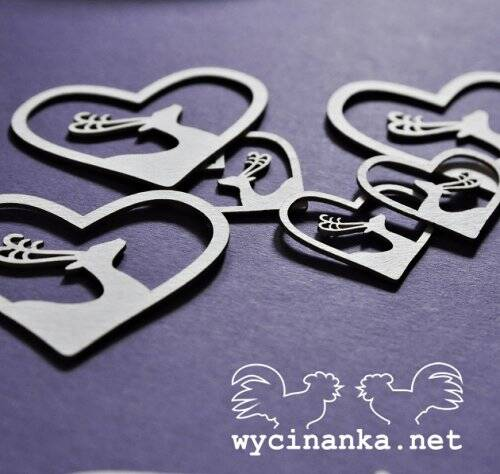 Wycinanka-2015/WONDERFUL TIME-Hearts, 6 pcs.