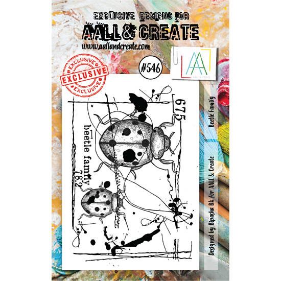 AALL & Create - Stamp set - A7 - Beetle Family