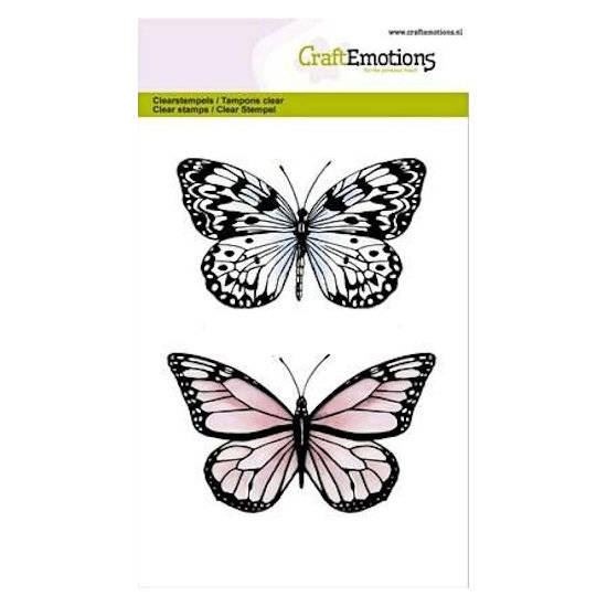 CraftEmotions - clearstamps A6 - Botanical- 2 Vlinders - nr 2