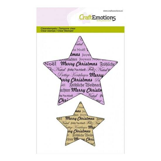 CraftEmotions - clearstamps A6 - Purple Holiday - 5 Punts Ster Text Christmas