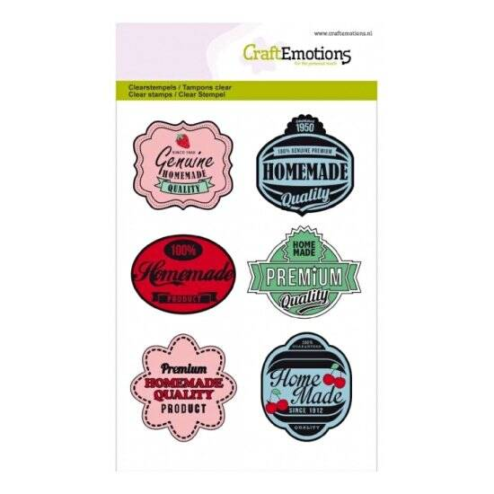 CraftEmotions - clearstamps A6 - Fifties Kitchen - Labels
