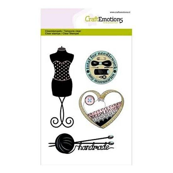CraftEmotions - clearstamps A6 - Couture Paspop