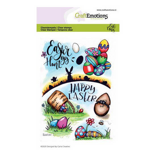 CraftEmotions-clearstamps A6-Easter 1-Carla Creaties