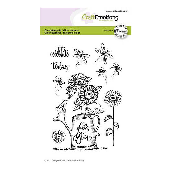 CraftEmotions - clearstamps A6 - Gieter - For you