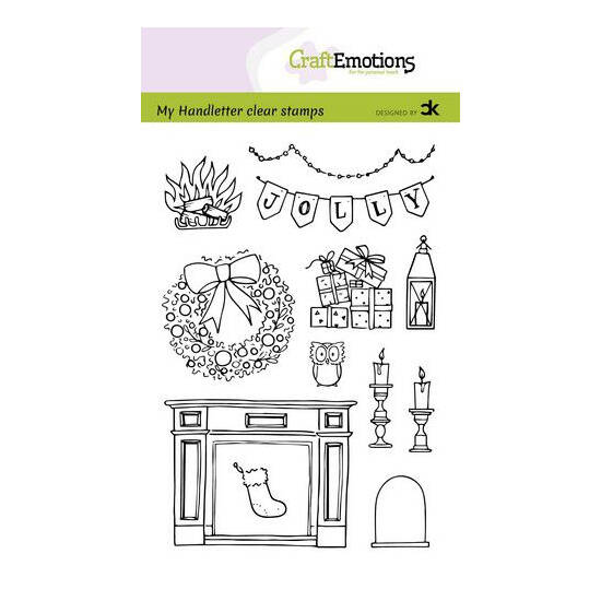 CraftEmotions - clearstamps A6 - Handletter - X-mas decorations-2