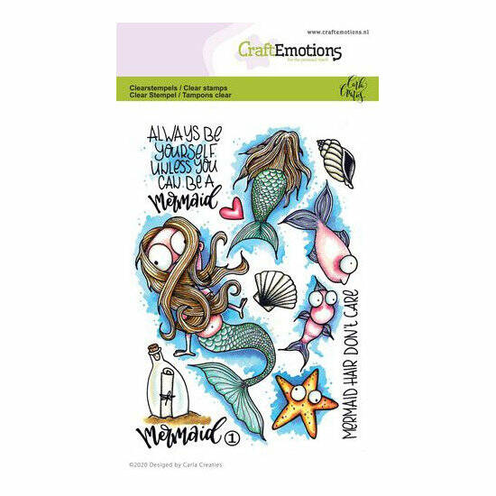 CraftEmotions-clearstamps A6-Mermaid 1-Carla Creaties