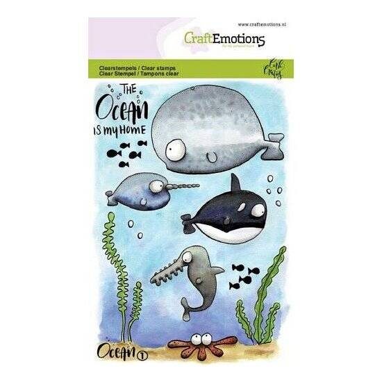 CraftEmotions-clearstamps A6-Ocean 1-Carla Creaties