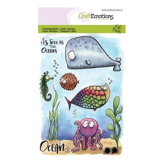 CraftEmotions - clearstamps A6 - Ocean 2