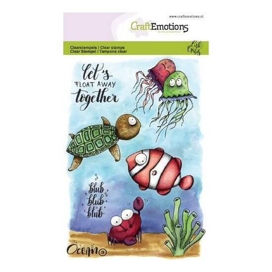 CraftEmotions - clearstamps A6 - Ocean 3