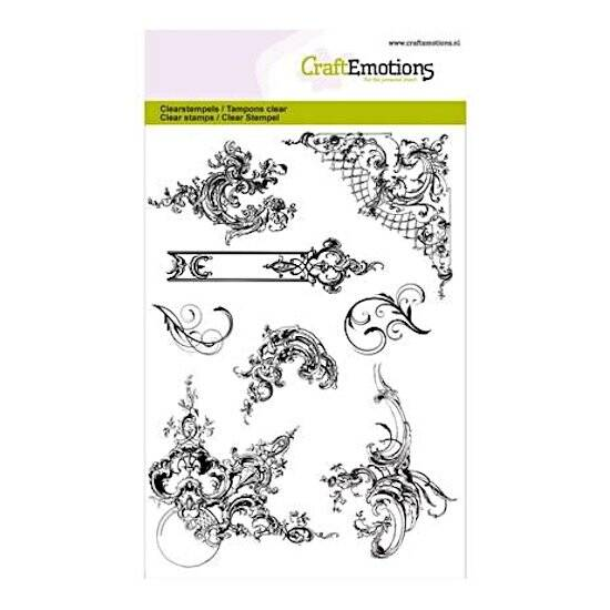 CraftEmotions-clearstamps A6-Ornamenten