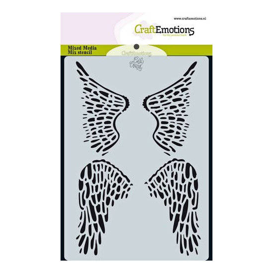CraftEmotions - Mask stencil - Angel&Bear - Vleugels