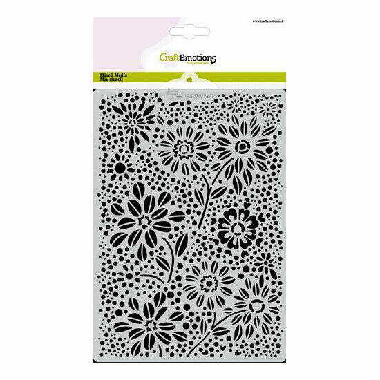 CraftEmotions - Mask stencil - Flowers & Dots