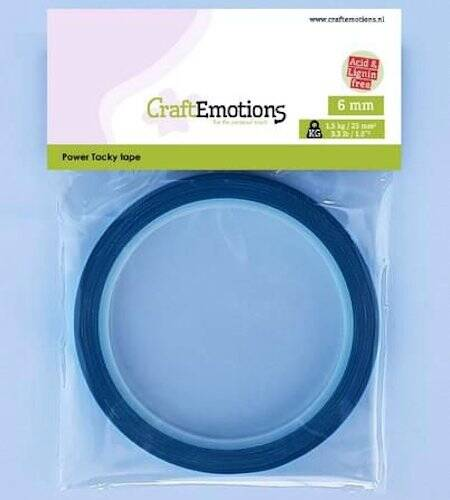 CraftEmotions - Power Tacky tape 6mm
