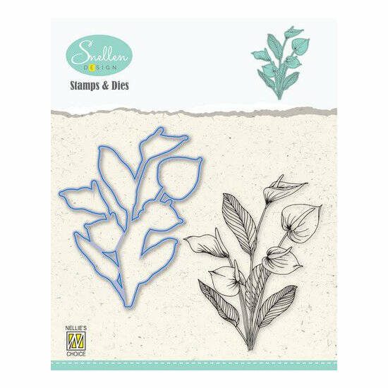 Nellie's Choice-Flowers-Die cut & clearstamp set-Anthurium