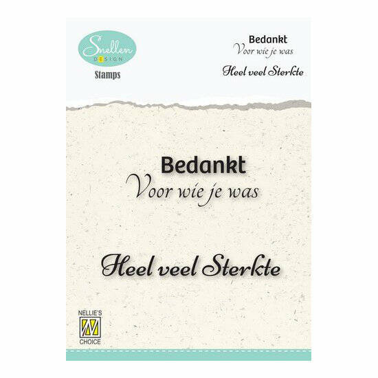 Nellie's Choice-Clear Stamps-Bedankt voor wie je was