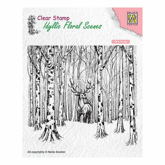 Nellie's Choice-Clearstamp-Idyllic Floral Scenes-Hert in het bos