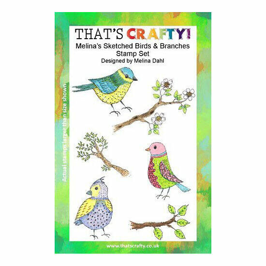 That's Crafty! - Clear Stamp Set - Melina's Sketched Birds & Branches