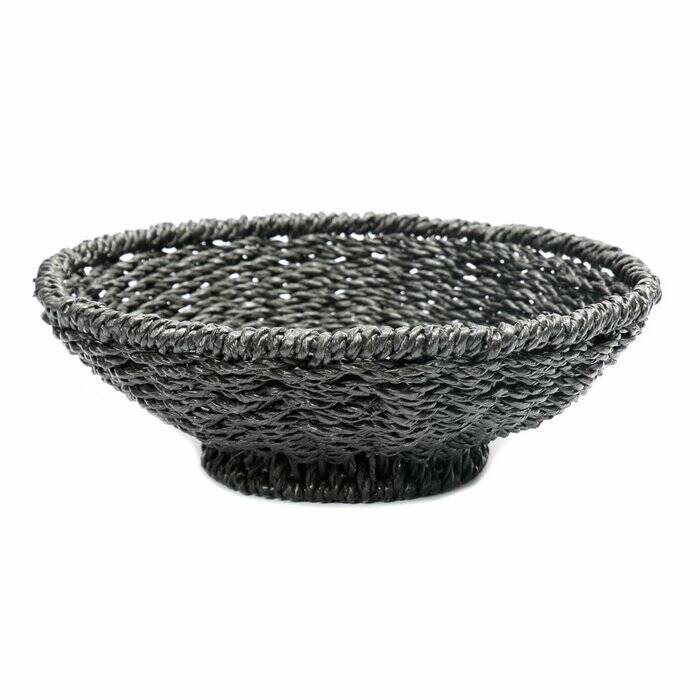 The Porto Seagrass Bowl - Black