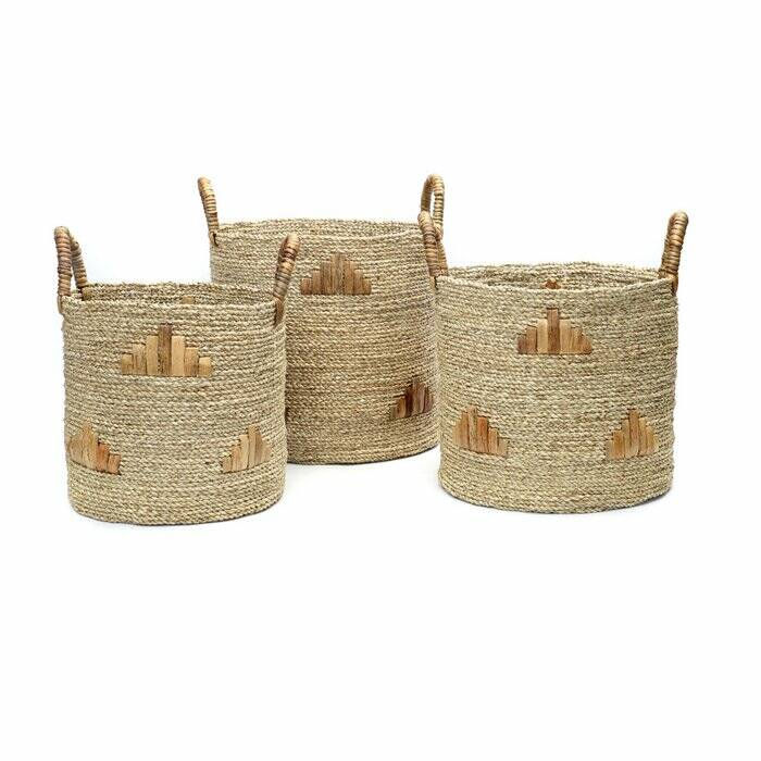 The Twiggy Graphic Baskets - Natural