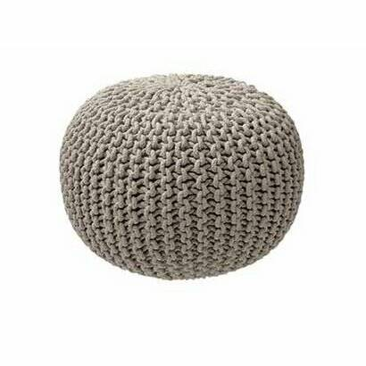 Knitted Poef Taupe