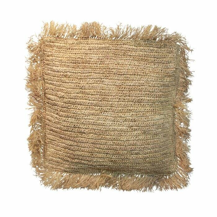 The Raffia Cushion Square - Natural - L