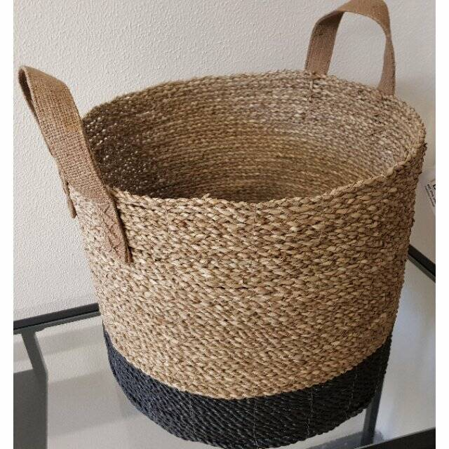 Daniella basket seagrass handle jute