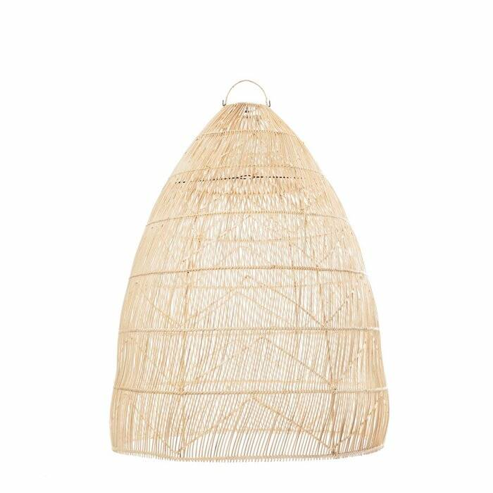The Rattan Twister Pendant - Natural - L