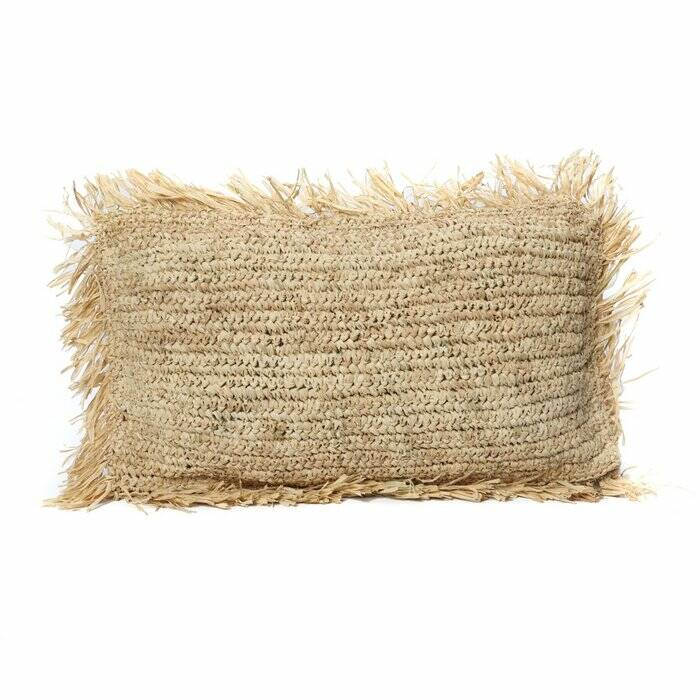 The Raffia Cushion Rectangular - Natural