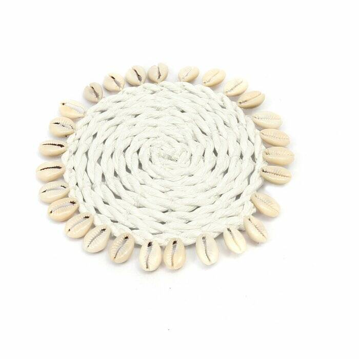 The Seagrass Shell Coaster - White