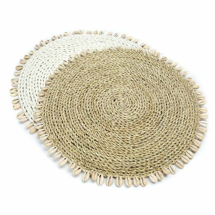 Placemat Seagrass Shell