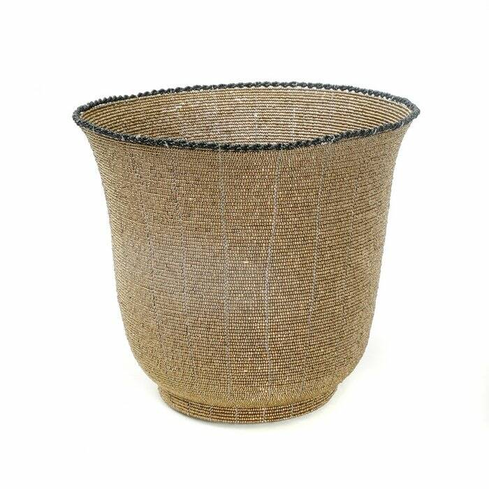 The Beaded Bowl High - Gold - L