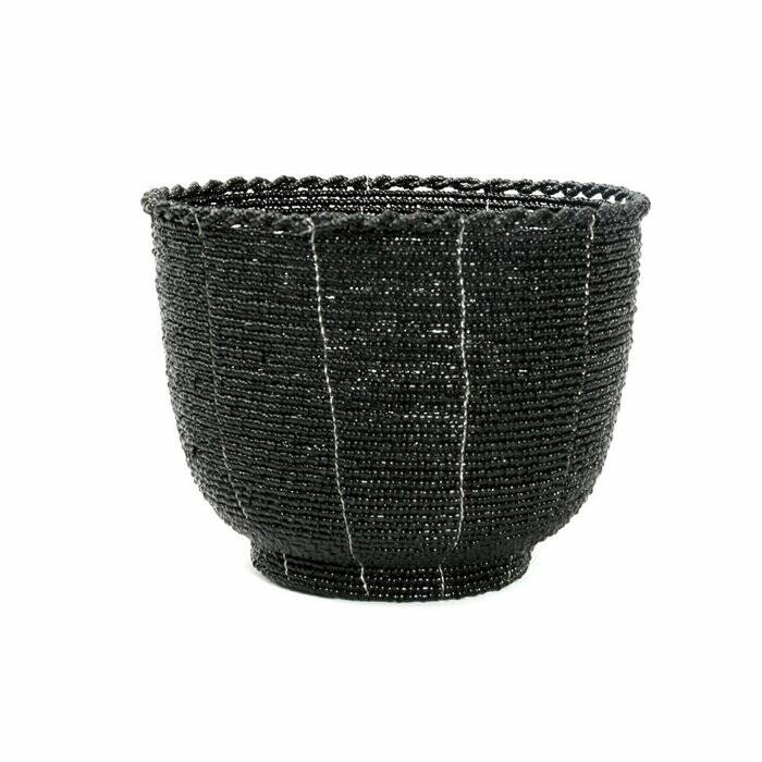 The Beaded Candy Bowl - Black - M