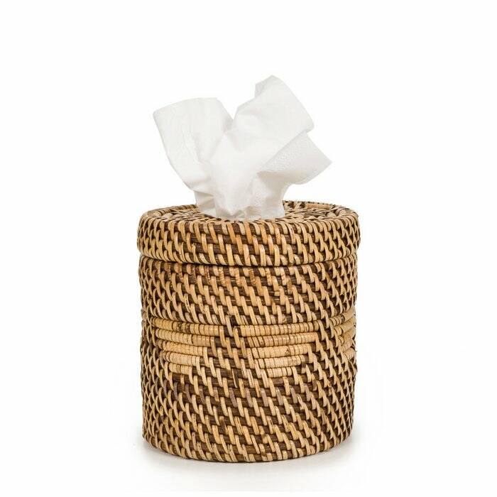 The Colonial Tissue Box - Natural Brown