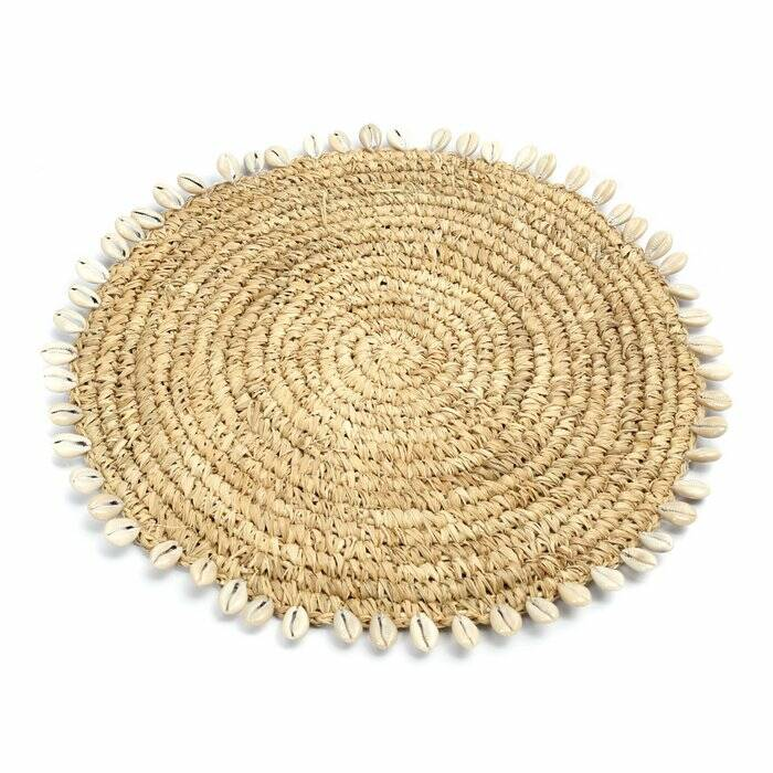 The Raffia Shell Placemat