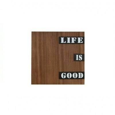 Wandpaneel hout 30 x 30 cm Life is good