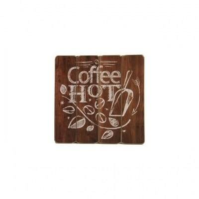 Tekstbord hout 40 cm Coffee Hot