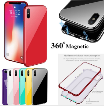 360 Magnet Strong Case For iPhone XS Max 6.5 & Glass