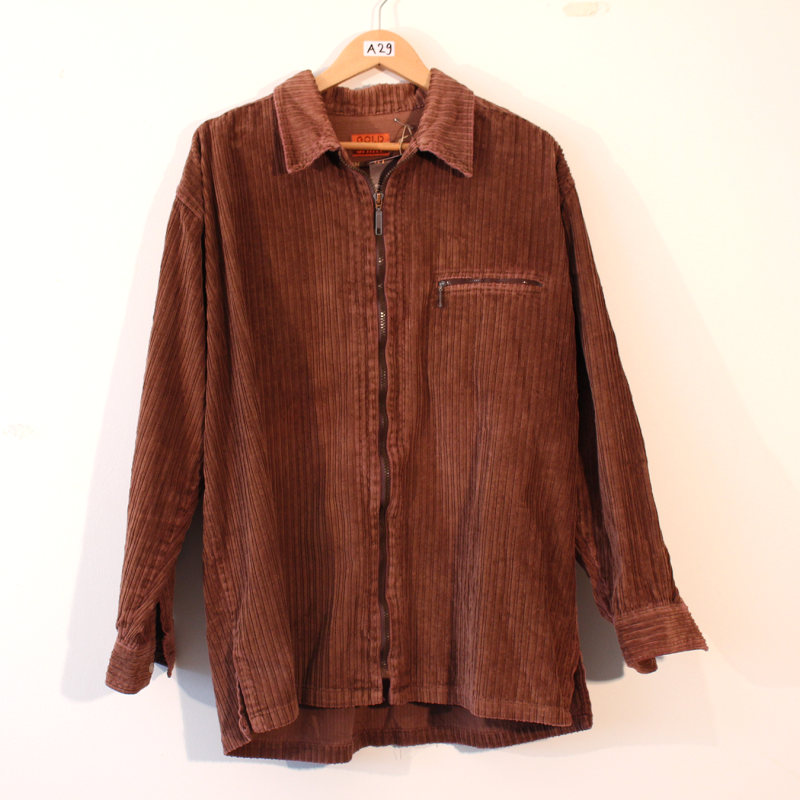 C1. thick corduroy long sleeve - size XL