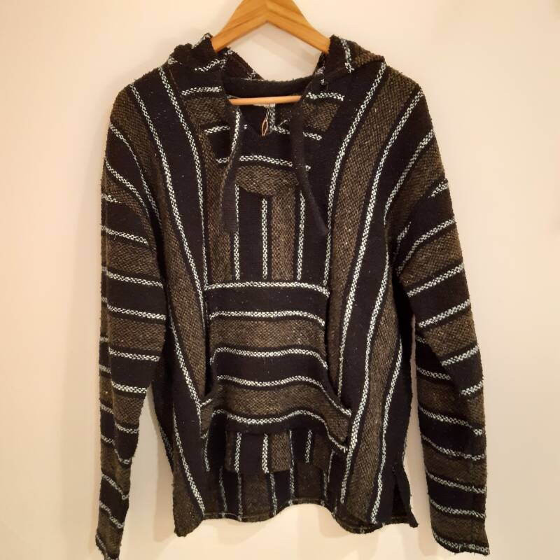 F38. Mexican jumper green/blue - size S/M