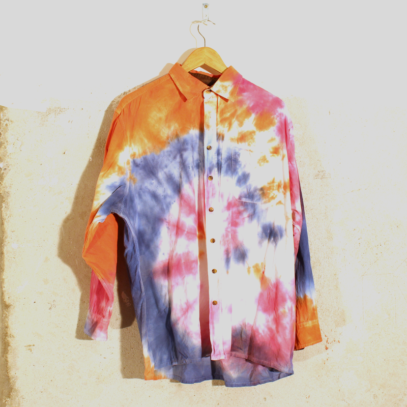B01. Long Sleeve Tie Dye - men's XL