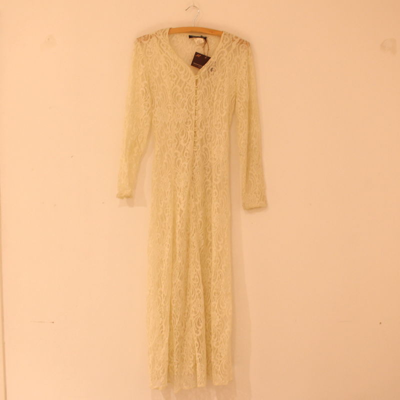 A16. white lace dress - size M