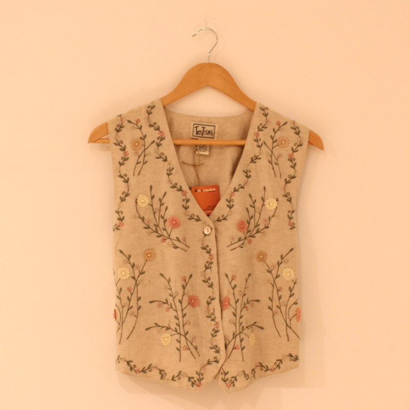 B23. Embroidered Gilet - size S