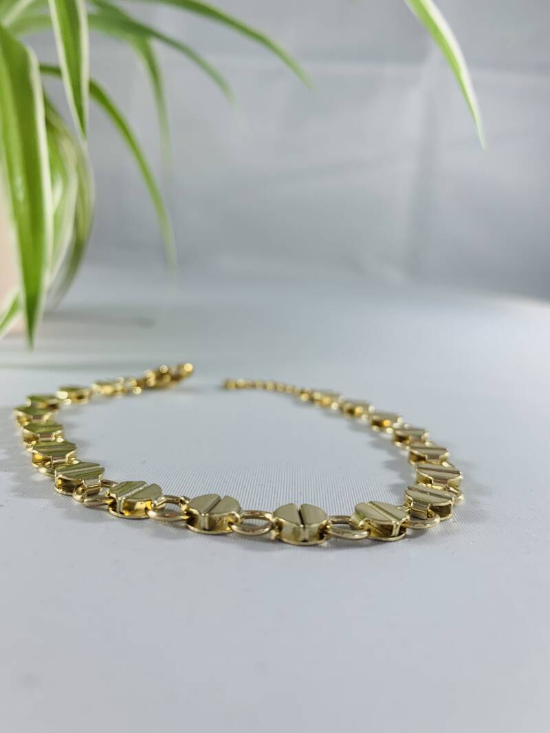 Rond motief gold plated