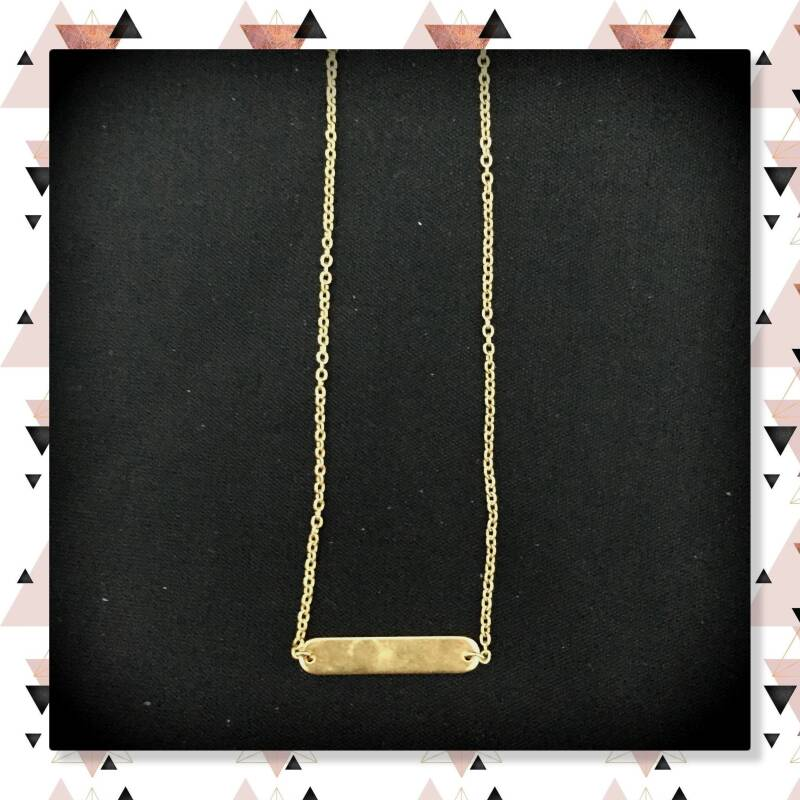 Staaf ketting Gold plated