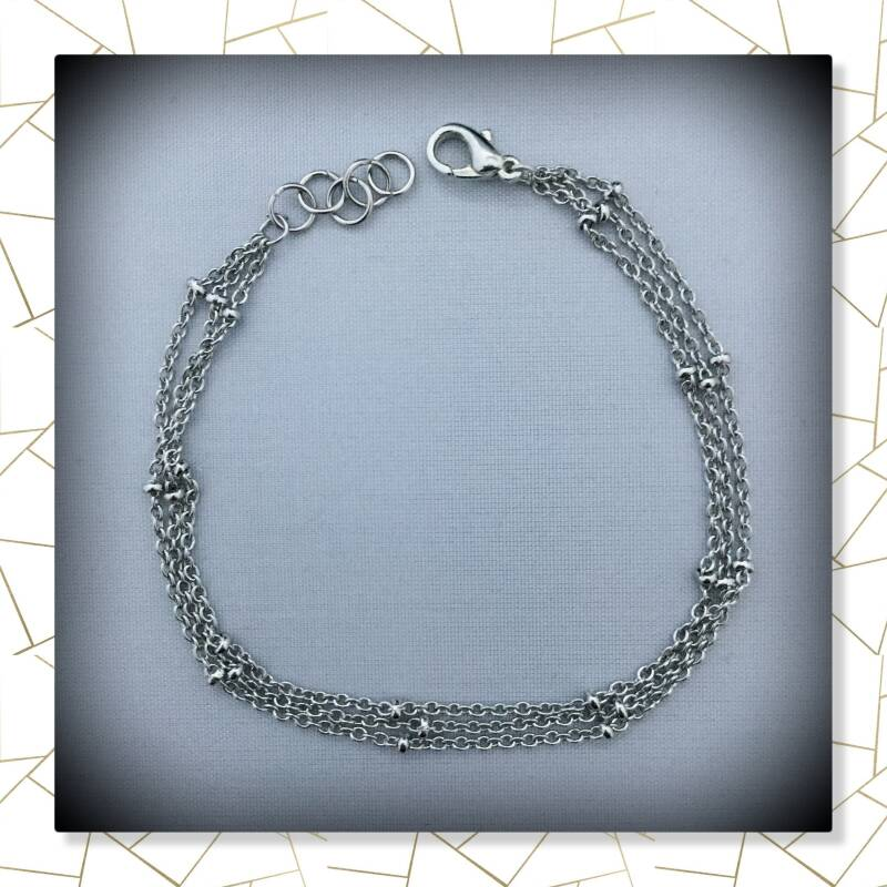 Dubbele armband silver plated