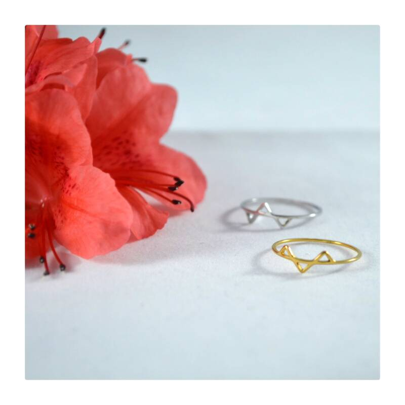 Geometrische Ring (Gold plated of Silver plated)