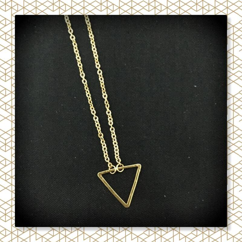 Driehoek ketting Gold plated