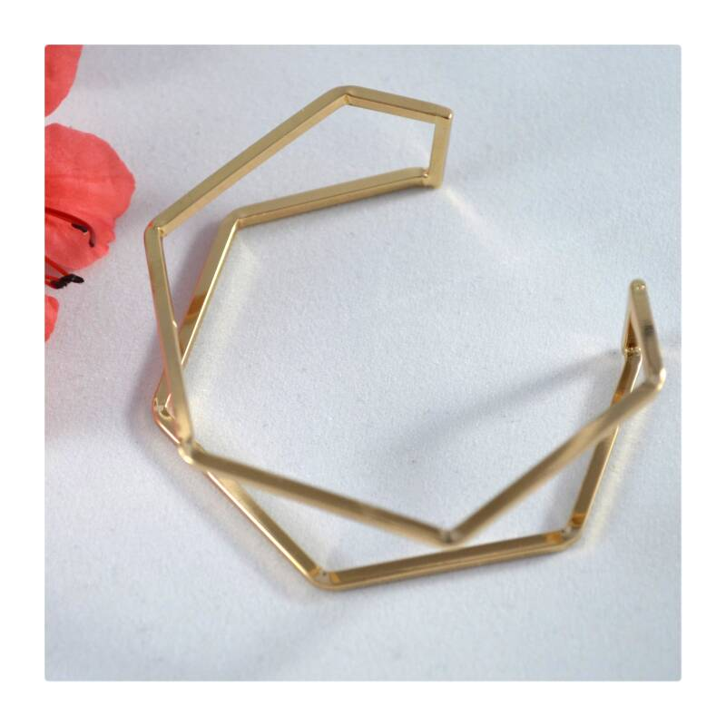 Dubbele geometrische armband gold plated